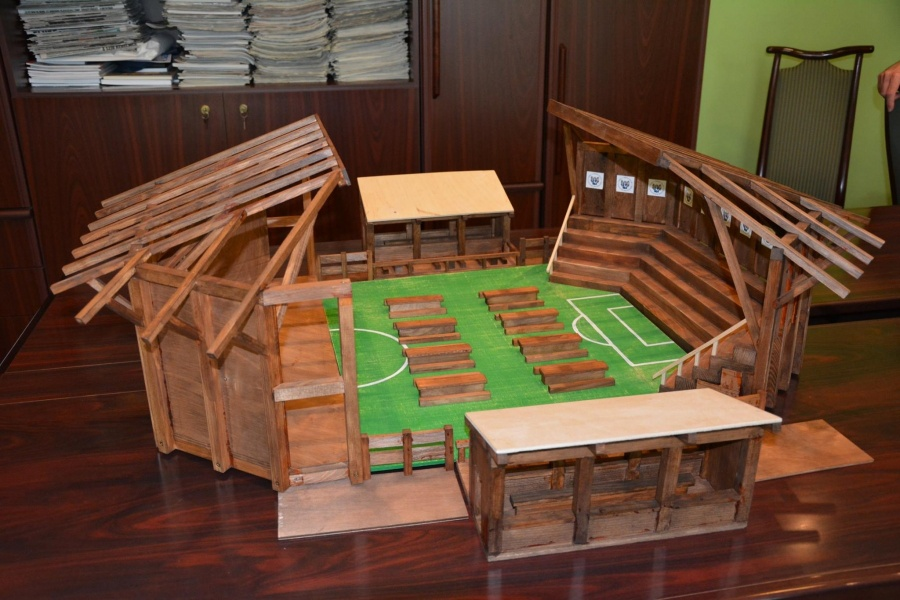 Csepeli Szurkolói Aréna makett